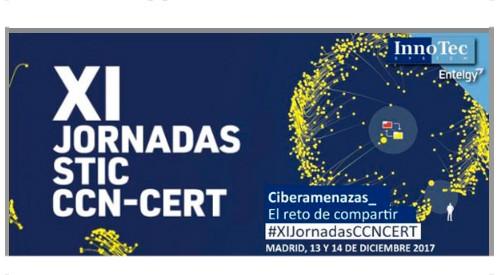 InnoTec (Grupo Entelgy) patrocinador VIP de las XI Jornadas CCN-CERT 2017