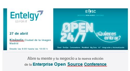 Entelgy en Enterprise Open Source Conference