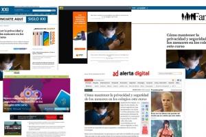 Varios medios se hacen eco de nuestros consejos para proteger la información de los menores en la red