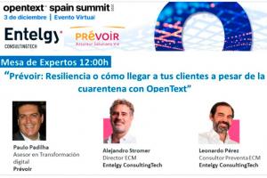 Entelgy participa en el OpenText Spain Summit 2020