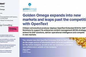 Desde Entelgy en LATAM… OpenText publica el caso de éxito de Golden Omega