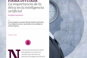 """El País Retina nos publica la tribuna: """"La importancia de la ética en la Inteligencia Artificial"""""""