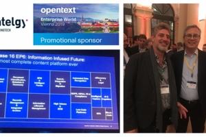 Entelgy patrocina el Enterprise World Viena 2019, el mayor evento europeo de OpenText sobre Enterprise Information Management