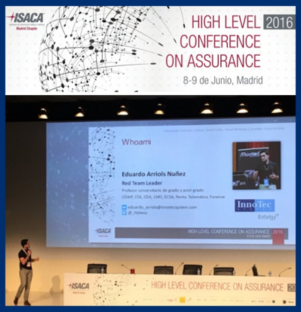 InnoTec en el congreso anual sobre ciberseguridad de ISACA Madrid, High Level Conference on Assurance 2016