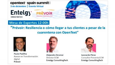 Entelgy participa en el OpenText Spain Summit 2020