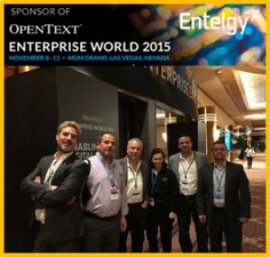 Entelgy participa en el mayor evento internacional de Open Text: Enterprise World 2015