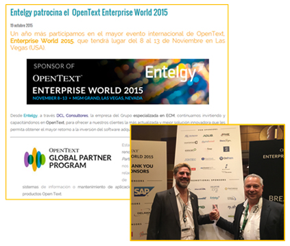 Entelgy patrocina y participa en Enterprise World 2015
