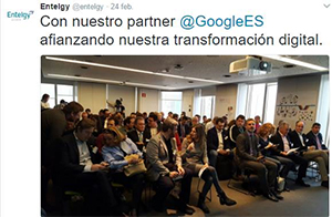 Transformación Digital - Entelgy Valley - Con nuestro partner Google
