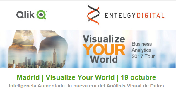Entelgy patrocinador Gold de Qlik en Visualize Your World Madrid