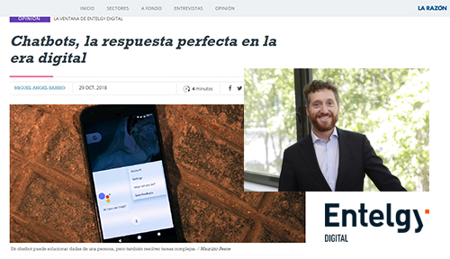 Tribuna - Chatbots - Entelgy Digital en La Razón